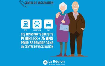 Transports gratuits pour les + de 75 ans pour se rendre dans un centre de vaccination