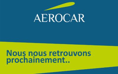 Aérocar suspendue pour le mois d'avril