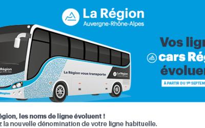 Transisère devient cars Région dès le 1er septembre 2021